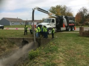 Camel being used for Sewer Cleaning