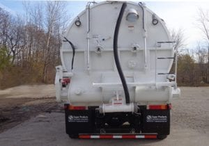 Rear End Of Supersucker Pneumatic Unloading Vacuum Truck