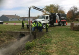 Storm Drain Cleaning in Progress