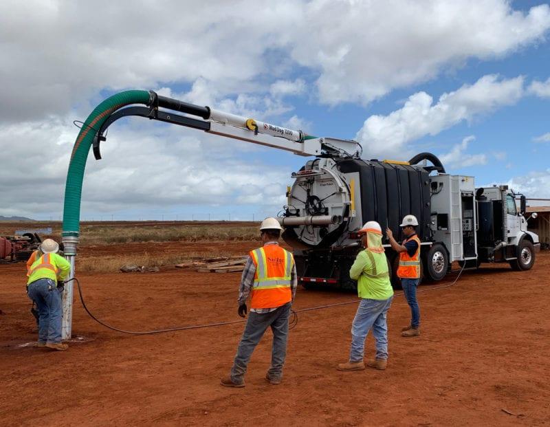 mud dog vacuum excavator dig application