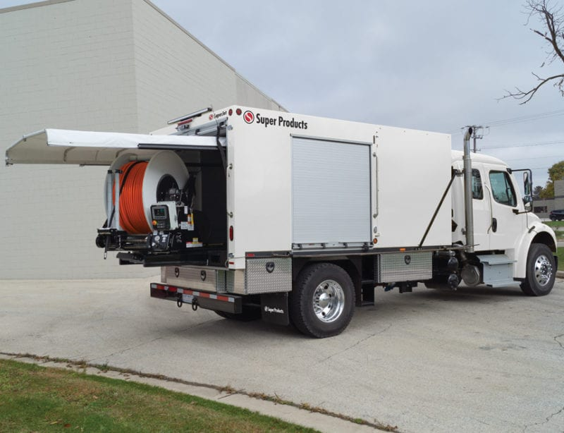super products superjet truck mounted jetter