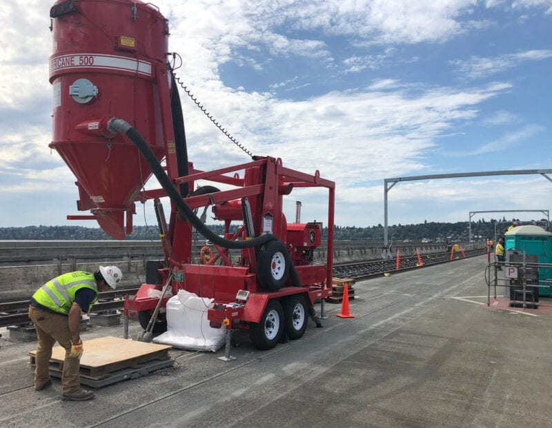 trailer vacuum industrial loader